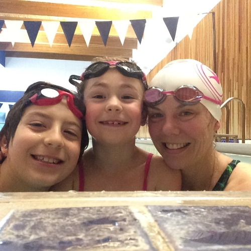 My kids came to do a swim session with me, so much fun!!!