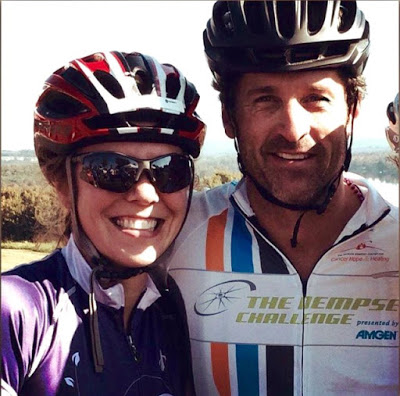 I bumped into McDreamy at the 1/2 way point on the 50 mile ride!