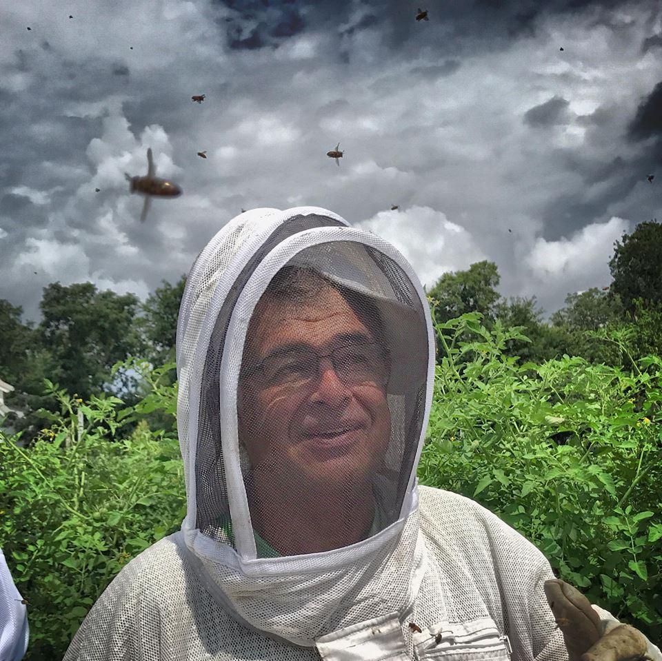 beekeeper Raul Vergara in Austin Texas