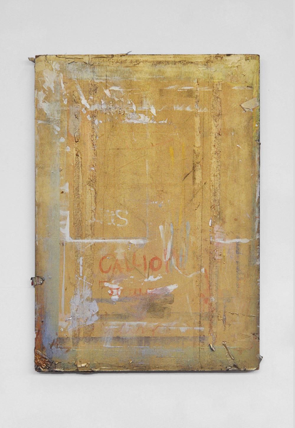 Untitled  Spray paint on wood, 2015 (79x56cm)