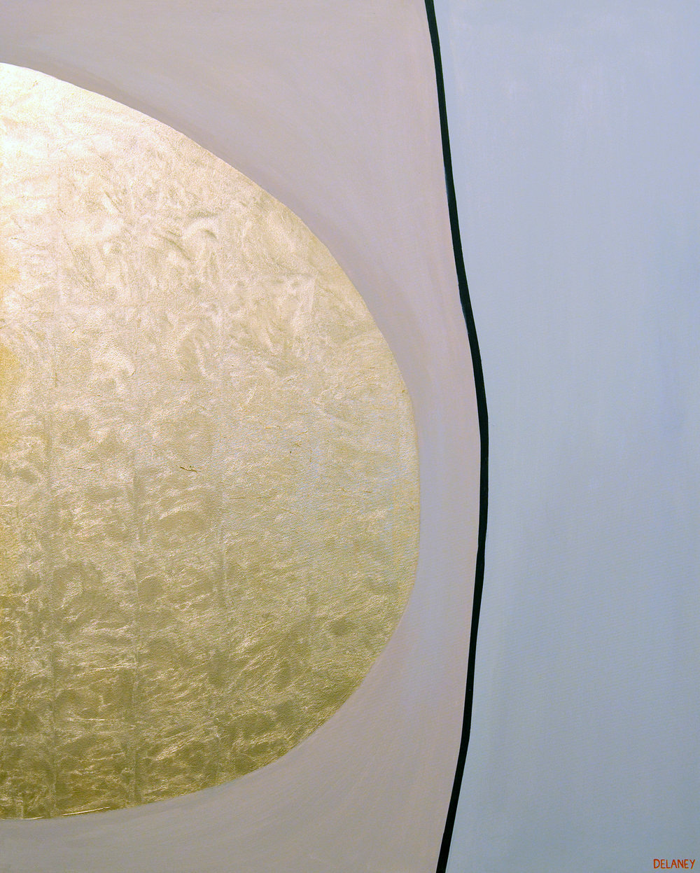 We Are Gold  Gold leaf and acrylic on canvas (161x121cm)