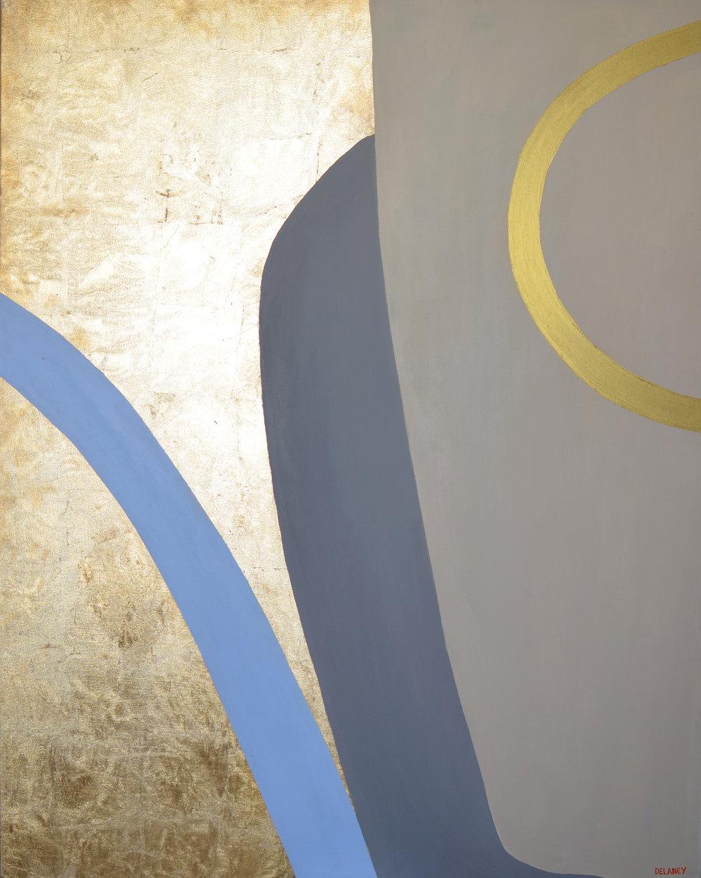 Club Triptych #3  Gold leaf and acrylic on canvas (161x121cm)