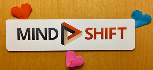 Mind Shift Sign with Hearts