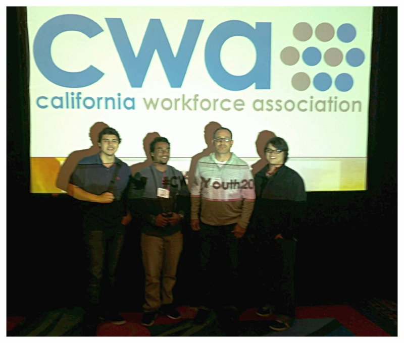 Dustin Pack with his Project YES co-presenters at the CWA Conference