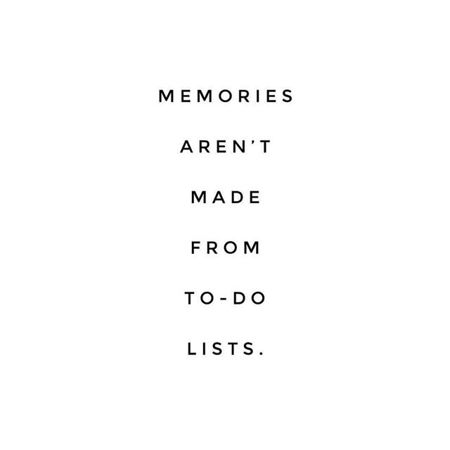 "With only 5 more days of our ""mini sabbatical"", I don't think it was an accident that I stumbled on this timely reminder while scrolling Instagram tonight. I'm a habitual list maker — in all the worst ways. I've been known to make lists of lists. With ""just"" 5 days left, I've been finding myself making lists of things I want to make sure we do before we head back home. But that's no way to make memories. Thats no way to rest in the fact that God has (and will) ordered our steps — even on vacation. 📷: @aedriel"