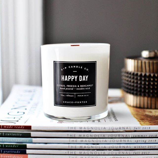 When I was a kid, one of my entrepreneurial dreams was to own my own candle company. (Okay, so I  also wanted to be a meteorologist... and a dolphin trainer. 🤷🏼♀️) This being the case, the fact that the @graceandporter candle collection launches tomorrow - or the fact that it's even a THING now - has me ridiculously excited, nervous, thankful, and ever so slightly overwhelmed all at the same time. 🙃 A special thank you to my friends who have been smelling scent samples, giving me packaging feedback and testing candles for the past 6 months. @tiffanydprice @shelbykprins @krystal.sadler @km_clifford @britnimarie_ @semicolonjen Thank you for still loving me. 🤦🏼♀️😂