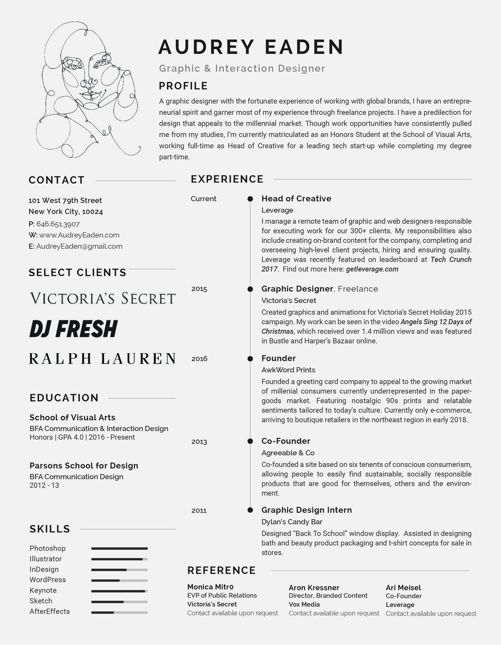 resume audrey eaden