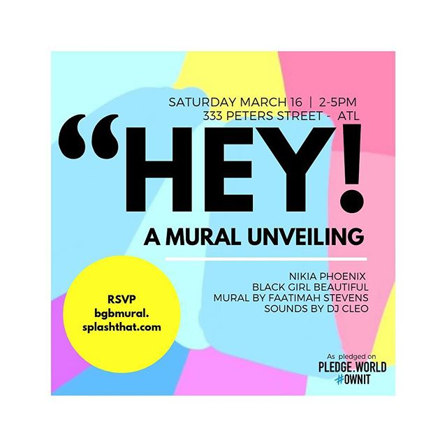Hey girl! We're celebrating you. Join us for A Black Girl Beautiful Mural unveiling. We're shutting down the block to celebrate black and brown girls everywhere.  Saturday March 16 from 2-5 pm at @petersstreetstation. Mural by @thepainterbae. Enjoy sounds by @cleotrvppv. This is for us by us with love.💕 Project supported by @pledgeworld.  http://bgbmural.splashthat.com