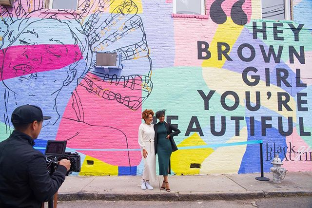 Hey Brown Girl You're Beautiful! We are honored to share with you the Hey Brown Girl Mural. Thank you @thepainterbae for helping make this happen. All this wouldn't have been possible without blu's @pledgeworld. Thank you to all the volunteers and to the family at @petersstreetstation. Thank you @livingwallsatl. We share this love letter with brown girls all over. You are magical.  Image by @nikonpapi. #heybrowngirlmural