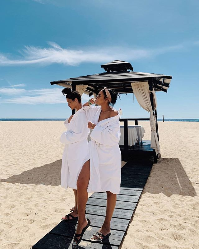 Dear Black girl, you are worth the time away from work. find your peace. Spend time with people who bring you light. Here's our dearest @nikiphoenix and bff @tayehansberry on vacay in Cabo. #blackgirlbeautiful  #bgbrevive #losangeles #blackgirls #blackgirlmagic