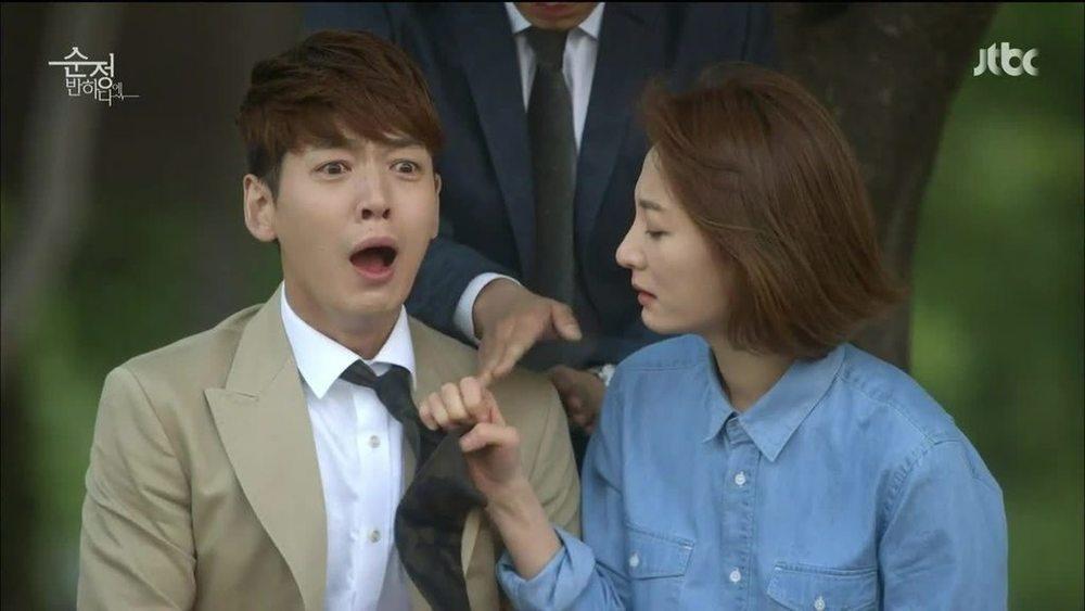 Jung Kyung-ho and Jo Eun-ji in Beating Again //Source: JTBC