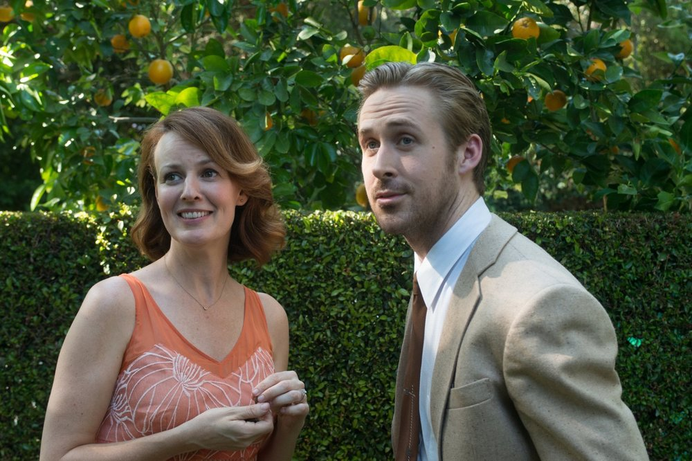 Laura ( Rosemarie DeWitt ) and Sebastian ( Ryan Gosling ) ||  Source : Photo by  Dale Robinette   © Lionsgate