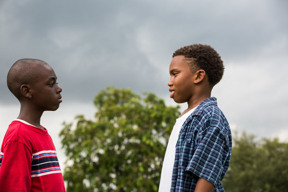 "Little (Alex Hibbert) and Kevin (Jaden Piner) in ""Moonlight' 