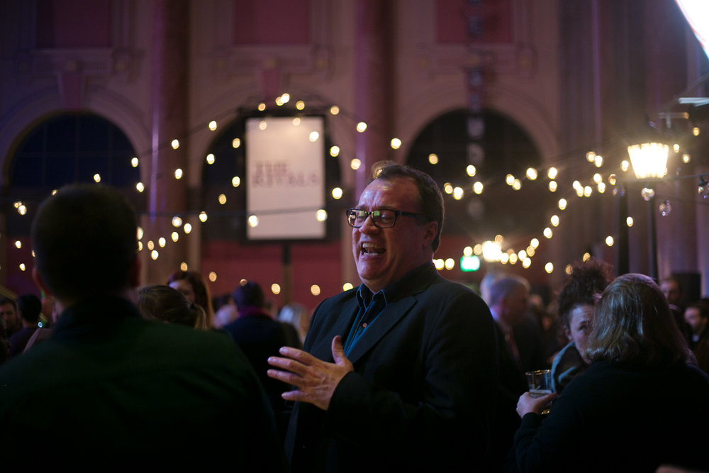 Russell T. Davies , one of the judges for the  2017 Bruntwood Prize Award Ceremony  at  The Royal Exchange Theatre , Manchester ||  Photo by:   Karina So