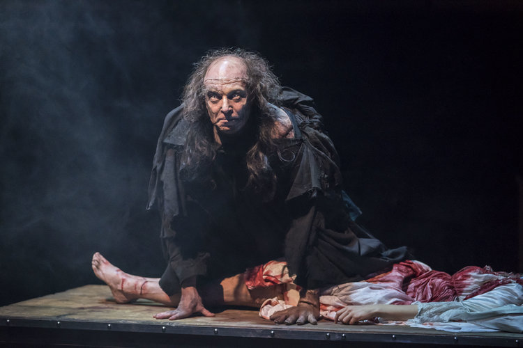 The Creature ( Harry Attwell ) in   FRANKENSTEIN   as adapted by  April De Angelis  and performed at the   Royal Exchange Theatre   (9 Mar - 14 Apr 18) || Photo by  Johan Persson  -  courtesy of  the Royal Exchange Theatre