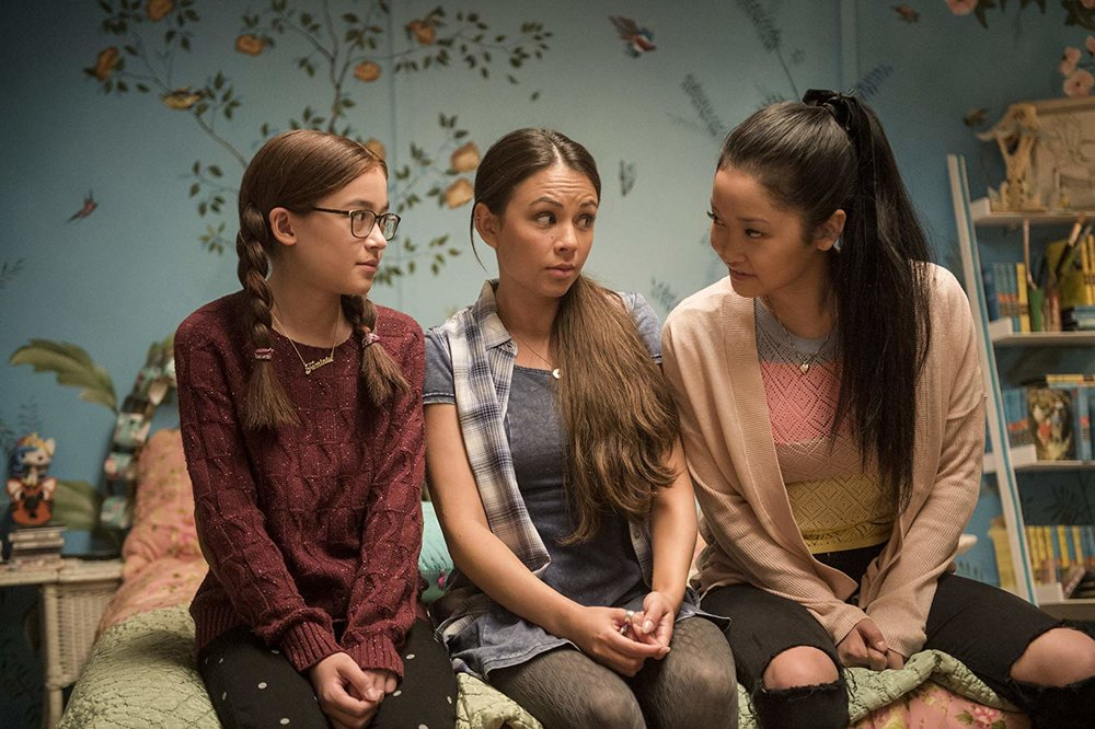 Kitty (  Anna Cathcart  ), Margot (  Janel Parrish  ) and Lara Jean (  Lana Condor  ) in   To All the Boys I've Loved Before   // © Awesomeness Films