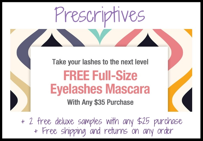 Prescriptives  ~ Free Full-Size False Eyelashes ($23 value ~ Plush Black) with $35 purchase + 2 free deluxe samples with any $25 purchase + Free shipping and returns on any order