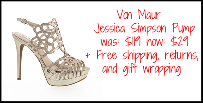 Von Maur  ~ Jessica Simpson Weslynn Cutout Open Toe Platform Pump ~ was: $119 now: $29 + Free shipping, returns, and gift wrapping