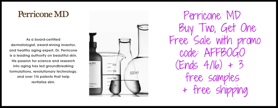 Perricone MD  ~ Buy Two, Get One Free Sale (Ends 4/16) + 3 free samples + free shipping