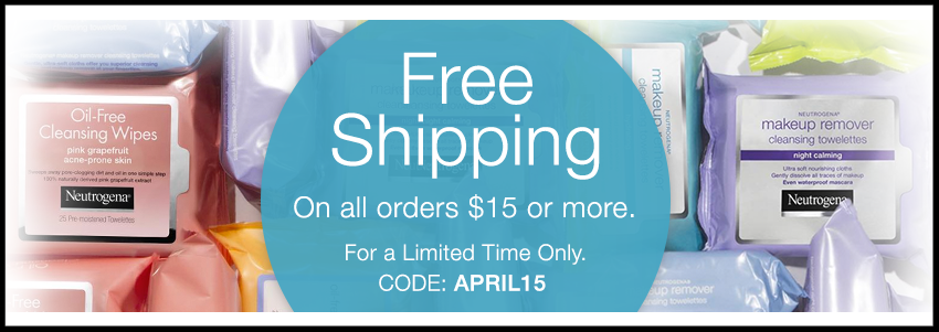 Neutrogena  ~ Free shipping with $15 order with promo code: APRIL15 (Ends 4/23)