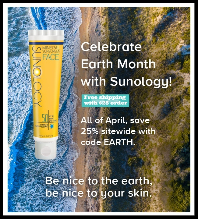 Sunology ~ Get ready for Summer ~ 25% Off with promo code: EARTH (Ends 4/30) + Free shipping with $25 order