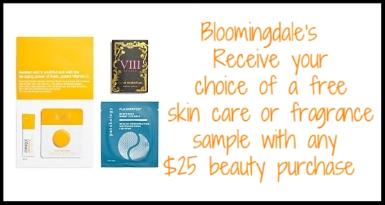 Bloomingdale's ~ Receive your choice of a  free skin care or fragrance sample  with any $25 beauty purchase + free shipping with $50 beauty order or become a  Loyallist  (It's free to join) for free shipping on any order