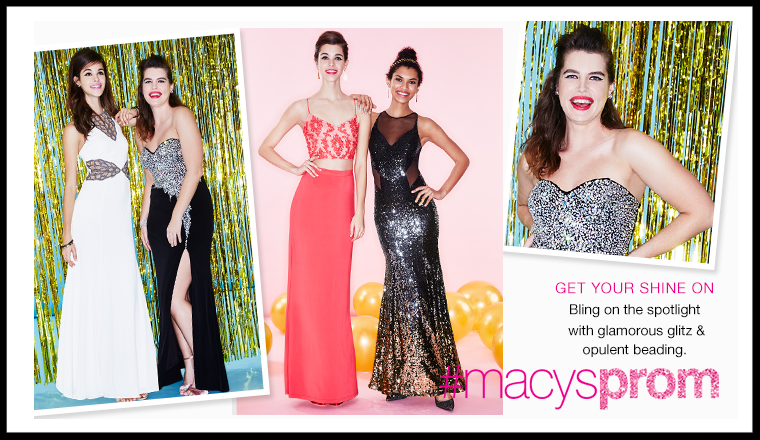 Macy's ~  Prom Dresses  under $99 + An 10% Off with promo code: FRIEND (Ends 5/7)+ Free shipping and returns on $99 order or and a  beauty item to qualify for free shipping