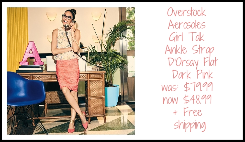 Overstock ~ Women's Aerosoles Girl Talk ~ Ankle Strap D'Orsay Flat (Dark Pink ~ Combo Faux Suede/Faux Leather) ~ was: $79.99 now $48.99 + Free shipping (They're $59.99 at Aerosoles)