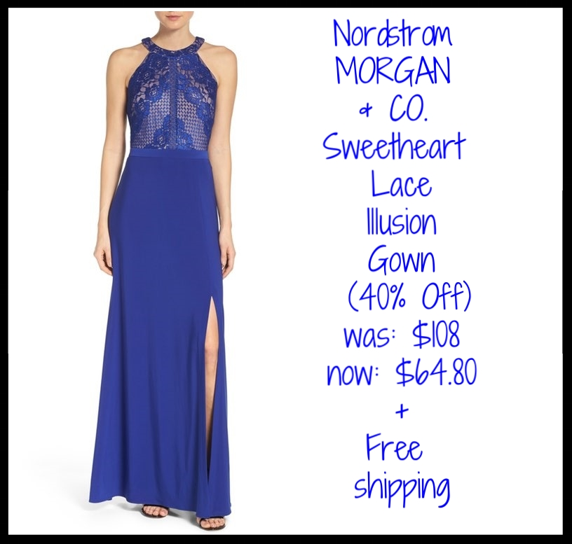 Nordstrom ~ MORGAN & CO. ~  Sweetheart Lace Illusion Gown  (40% Off) ~ was: $108 now: $64.80 + Free shipping
