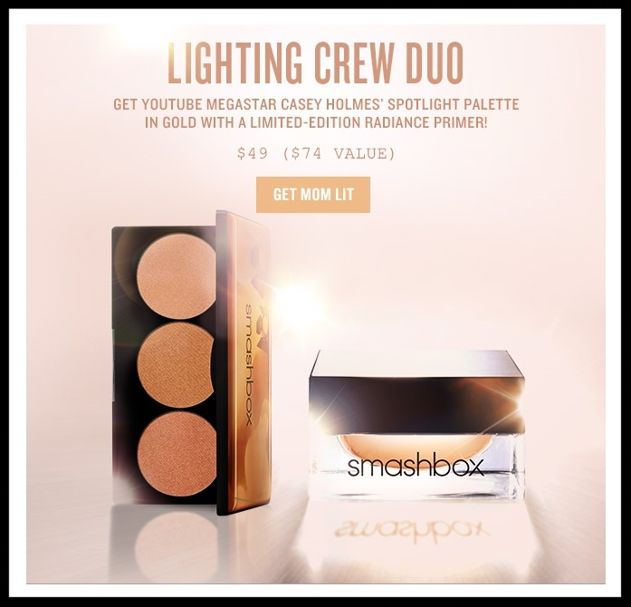 Smashbox ~  LIGHTING CREW DUO GET GLOWING! Set  (Youtuber Casey Holmes' Spotlight Palette!) ~ was: $74 now: $49 +  Free 3-Piece Gift with $40 purchase with promo code: NEEDTHIS (Ends 5/7) + 2 free samples + Free shipping and returns