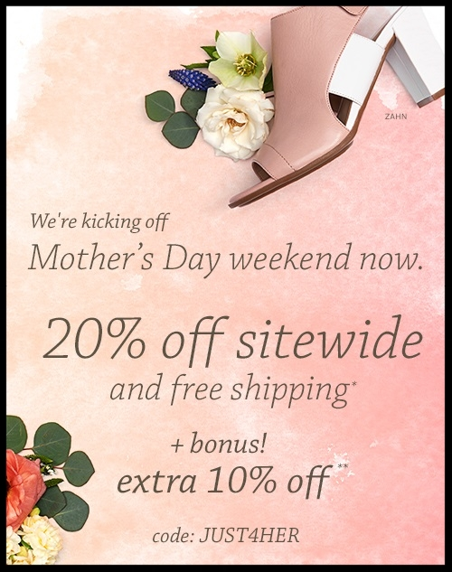 Naturalizer  ~  20% off sale and regular-priced merchandise + Extra 10% off with promo code: JUST4HER (Ends 5/15)