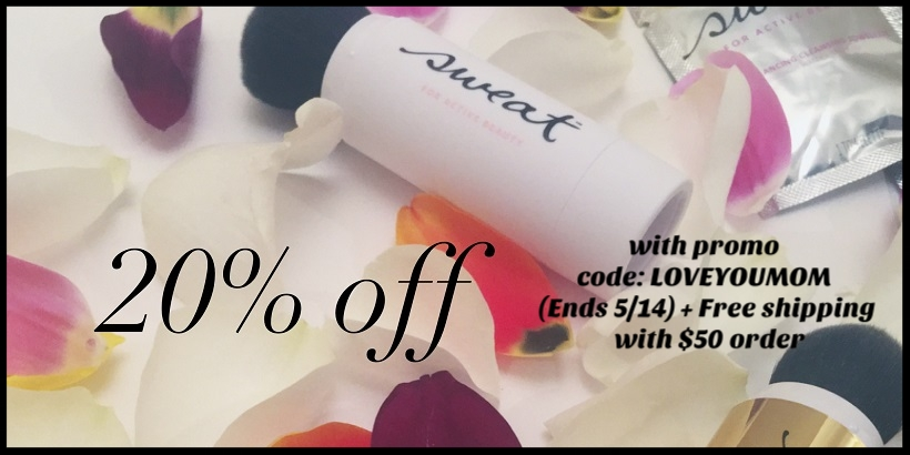 Sweat Cosmetics ~ 20% Off with promo code: LOVEYOUMOM (Ends 5/14) + Free shipping with $50 order