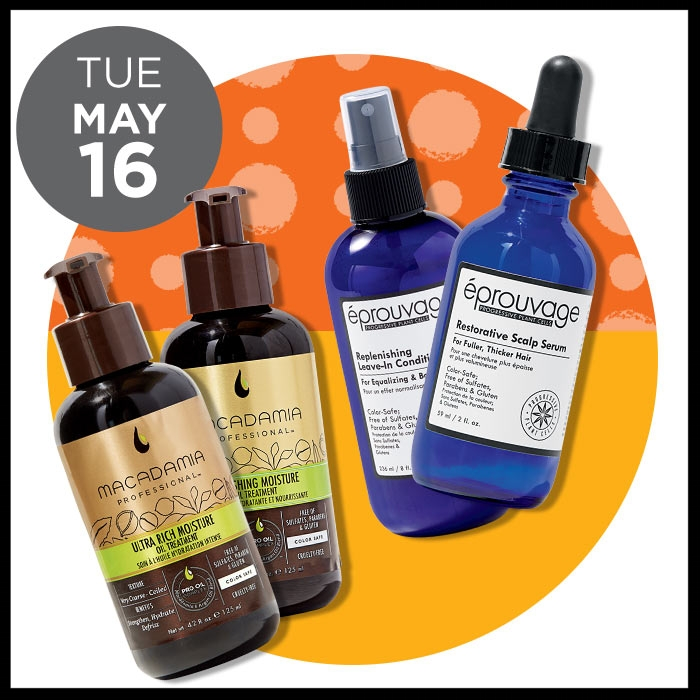 Ulta ~ The Gorgeous Hair Event ~  MACADAMIA PROFESSIONAL  Nourishing Moisture & Ultra Rich Moisture Oil Treatments (50% Off) ~ was: $39.95 AND  ÉPROUVAGE  Reviving Scalp Serum & Replenishing Leave-In Conditioner ( 50% OFF) ~ was: $18 - $30 +  FREE deluxe Thickening and Plumping Spray with any Eprouvage purchase