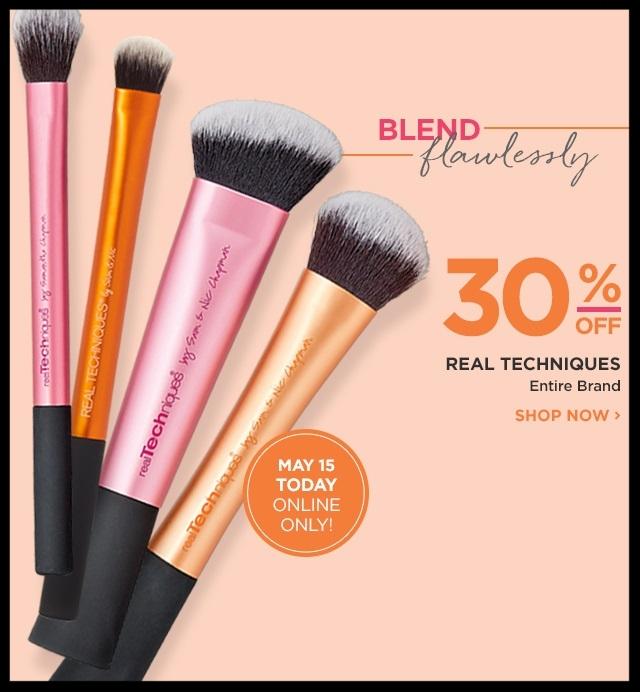 Ulta  ~ 30% Off of Real Technique (Ends 5/15) + Free samples + Free shipping with $50 order