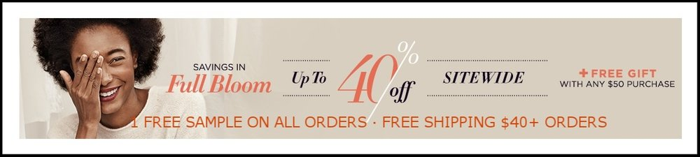 Carol's Daughter  ~ UP TO 40% OFF SITE-WIDE (Ends 5/17)  ~ 1 FREE SAMPLE ON ALL ORDERS · FREE SHIPPING $40+ ORDERS · FREE GIFT $50+ ORDERS
