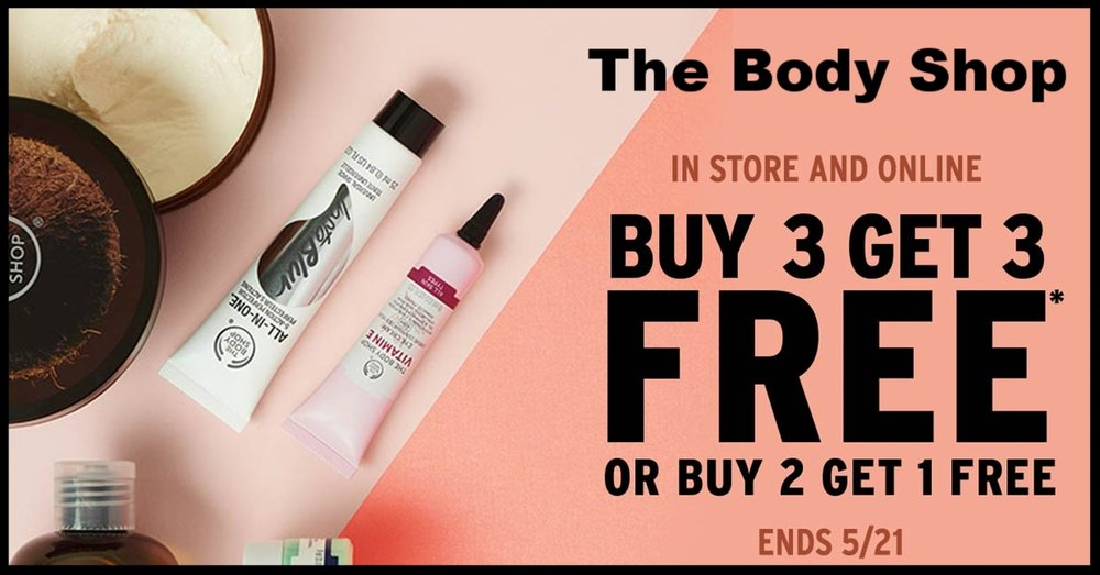 The Body Shop ~ Buy 3, Get 3 Free (Exclusions apply) + Free shipping with $50 order