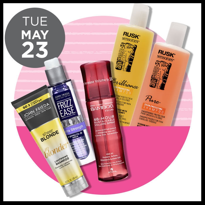 Ulta ~ The Gorgeous Hair Event ~  RUSK  Sensories Shampoo & Conditioner (8 - 13.5oz) was: $13.50 - $15 now: $ 6.99 AND   ALTERNA  Volume 48 Hour Sustainable Volume Spray ( 50% OFF) was: $25 now:  $12.50 + FREE sample CC Cream with any $25 Alterna purchase AND  JOHN FRIEDA  Hair Care (ONLINE ONLY ~  40% OFF)