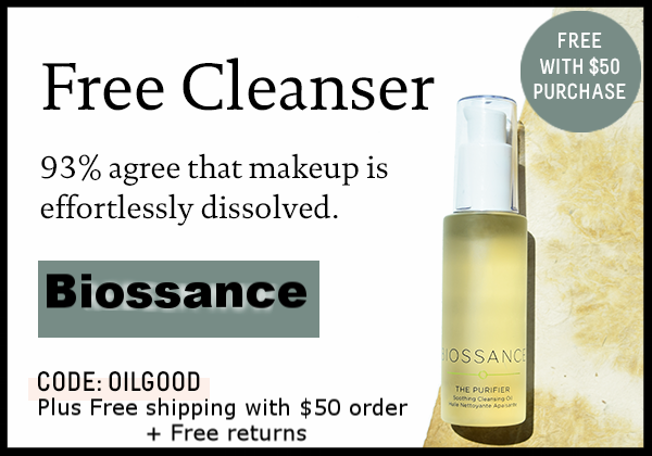 Biossance ~ Free Cleanser with $50 purchase with promo code: OILGOOD + Free shipping with $50 order + Free returns