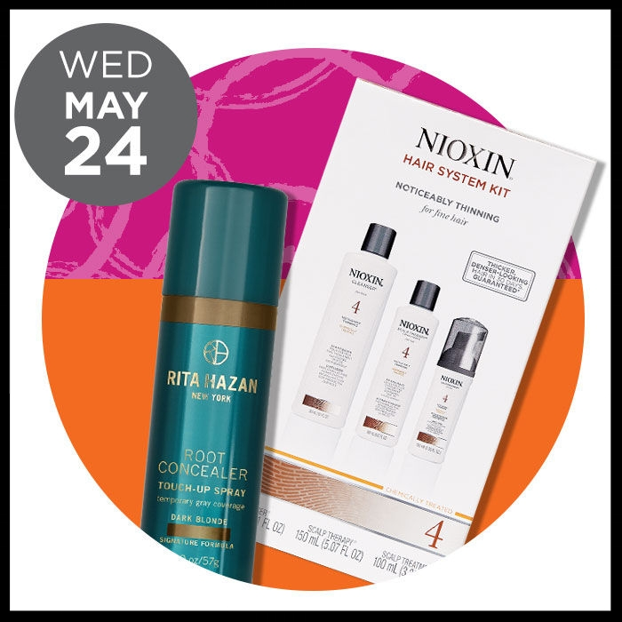 Ulta ~  NIOXIN  Kits ~ was: $44 now: $24  AND   RITA HAZAN  Root Concealer for Gray Coverage Spray (30% OFF) was: $25 now: $17.50