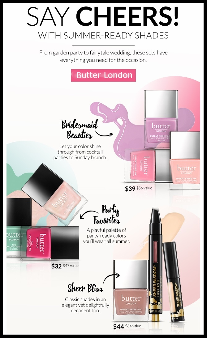 Butter London ~ It's Wedding Season ~Check the  Bridal Collections  out + 25% off $50 or 30% Off $100 with promo code MEM17 + Free shipping on all orders