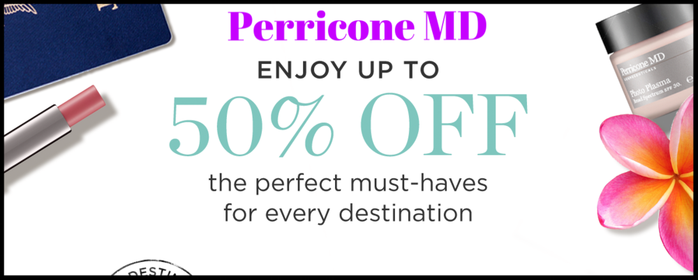 Perricone MD   ~ Up to 50% Off Must-Haves (Ends  06/01 at 11:59PM PST, or while supplies last.+ FREE SAMPLES & FREE SHIPPING ON ALL U.S. ORDERS