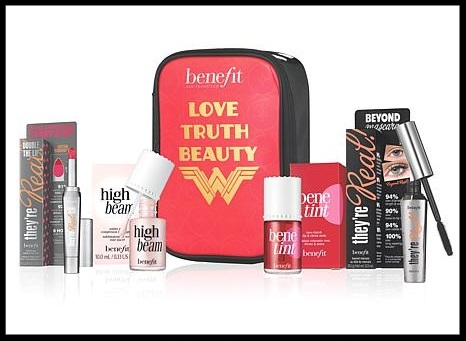 HSN  ~ Benefit Cosmetics Love, Truth, Beauty 5-Piece Set with 2-Year Marie Claire Magazine Subscription (Includes full-size items ~ $126 value) was: $65 now: $49 + free shipping