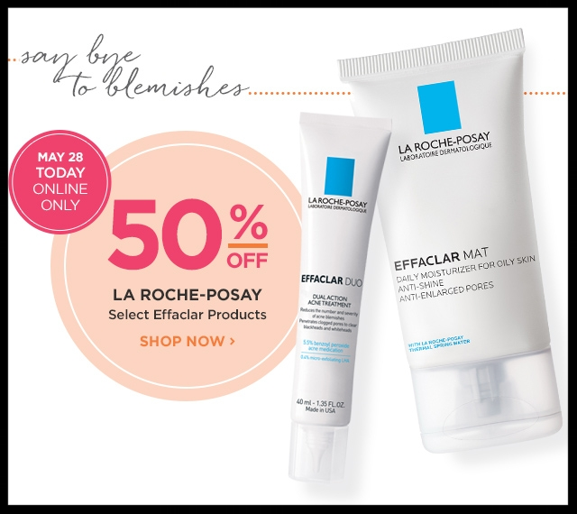 Ulta  ~ Hot Buy ~ LaRoche-Posay ~ Select Effaclar Products ~ 50% Off  (Ends 5/28) + FREE deluxe Anthelios Tinted Mineral with any La-Roche Posay purchase+ Free samples + Free shipping with $50 order