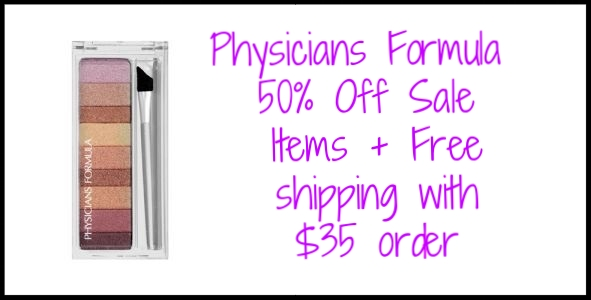 Physicians Formula  ~ 50% Off Sale Items + Free shipping with $35 order