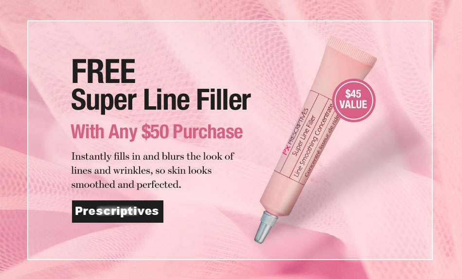 Prescriptives  ~ Free Full-Size Super Liner Filler ($45 value) with any $50 purchase (Ends 6/9) + 2 free deluxe samples with $25 purchase + Free shipping and returns with any order