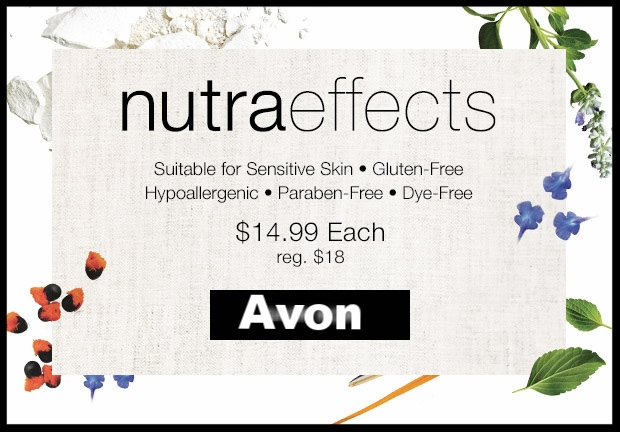 Avon ~ NutraEffects ~ 9 Products ~ was: $18 now: $14.99 + Free shipping with $40 order or ShopRunner shipping with $25 order
