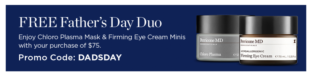 Perricone MD ~ Free Eye Cream Minis Duo with $75 purchase with promo code: DADSDAY (Ends 6/18) + FREE SAMPLES & FREE SHIPPING ON ALL U.S. ORDERS