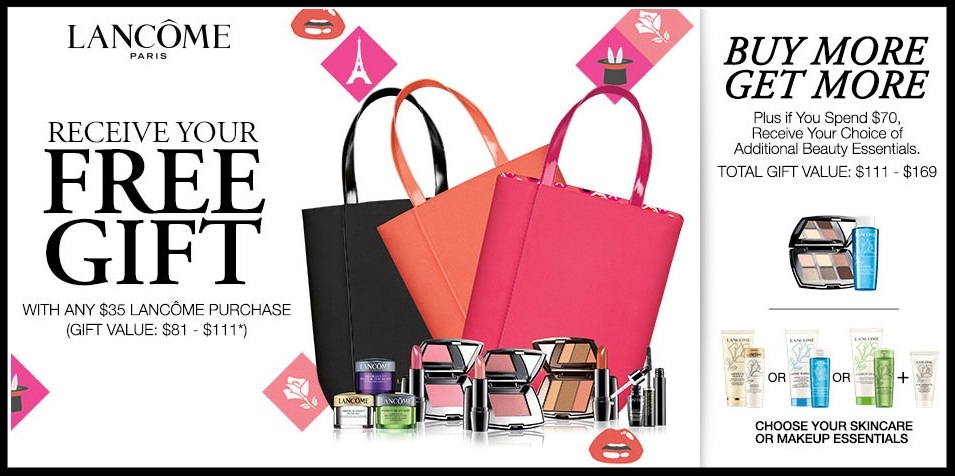 Bon-Ton ~ Free Lancôme CHOICE 6-Piece Summer Gift with $35 Purchase + Free choice of beauty essentials with $70 purchase + Free shipping with any beauty order with promo code: BEAUTY