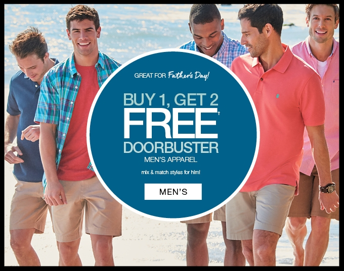 Stage Stores ~ Buy 1, Get 2 Free on Men's Apparel (Ends 6/18) + Free shipping with $75 order