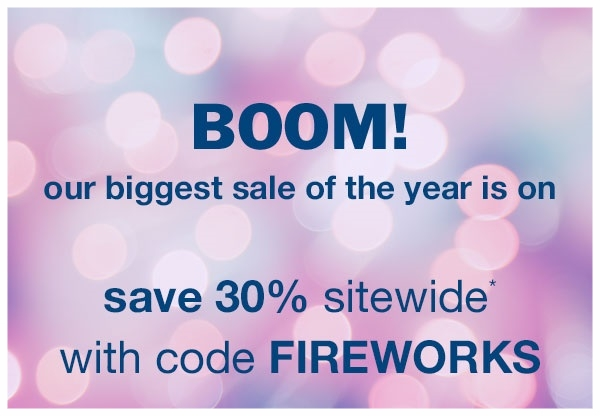 Bliss  ~ 30% Off Site-Wide with promo code: FIREWORKS (Ends 7/5) + Free samples + Free shipping with $50 order